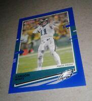 2020 Donruss Press Proof Blue Variation,  Carson Wentz #205, Philadelphia Eagles