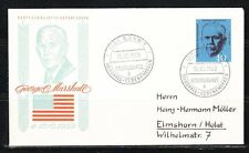 Germany BRD 1960 FDC cover Mi 344 Sc 821 George C.Marshall,general,politician