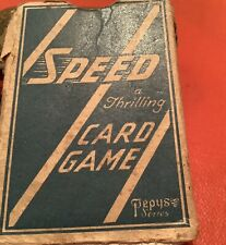 More details for pepys speed card game vintage,complete with rules.cards great cond.box not so.