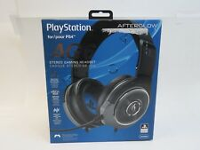 PDP Afterglow AG6 Over-Ear Noise Cancelling Gaming Headset for PS4 - Black/Blue
