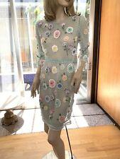 Lim's Vintage Hand Crochet Three-quarter Sleeve Dress, Carnation Motif, Size S