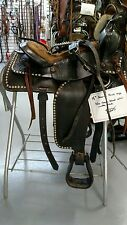 """15"""" American Made Parade Style saddle with matching Breast Collar"""