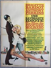 Affiche UNE RAVISSANTE IDIOTE Anthony Perkins BRIGITTE BARDOT Molinaro 60x80cm *