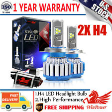 2Pcs H4 9003 LED Headlight Bulbs Conversion Kit 70W 14400LM 6000K Super White US