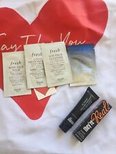 Set of 6 SAMPLES MIXED dr brandt, FRESH , BENEFIT PLUS A TOTE