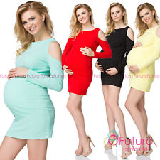 Casual Maternity Cut Out Sleeves Dress Fashionable Pregnancy Tunic FK1509