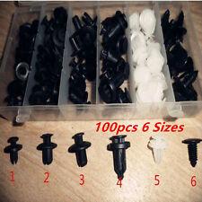 100Pcs Car Door Fender Push Pin Rivet Trim Clip Panel Body Screws Push Fastener