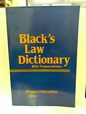 Black's Law Dictionary: Abridged Fifth Edition by Black, Henry Campbell