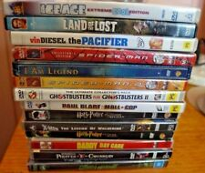 14 BULK  DVDs,ghostbusters 1 & 2,harry potter,spiderman 1 & 2,ice age,x-men +(R4