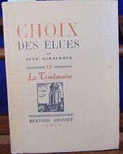 Giraudoux Choix des élues...