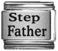 Clearly Charming Step Father Laser Italian Charm