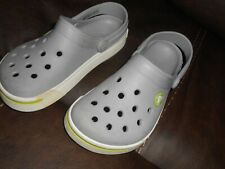 Crocs For Kids Classic Clogs Shoes Size 10 / 11 Gray White