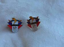 Figure Skating Olympic Pins 1998 Nagano Japan Minute Maid Set 2 Mint
