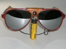 B&L RAY-BAN CATS 8000 G31 MIRROR RED GLACIER ARCTIC LEATHERS AVIATOR SUNGLASSES