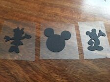 3 Mickey Minnie Mouse BLACK Edible Cake cupcake sugar decoration party Toppers