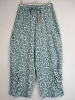 New Plus Size One Size Lagenlook  100%Viscose Italian Trousers 7 Colours