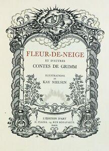 ART-NOUVEAU Fleur-de-Neige Contes GRIMM 12 Compositions KAY NIELSEN Ed. PIAZZA