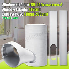 79'' Air Conditioner Exhaust Hose 6'' Dia + Window Slide Kit Plate + Adapter