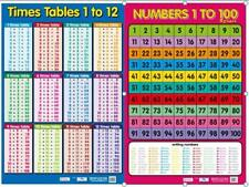 Times Tables Poster + Numbers 1-100 Poster / Counting / Educational / Classroom