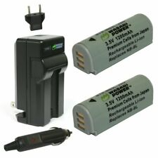 Wasabi Power Battery (2-Pack) and Charger for Canon NB-9L