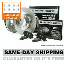 Rear Disc Brake Kit, Pair of 2 Rotors and 4 Ceramic Pads + Install Hardware Set