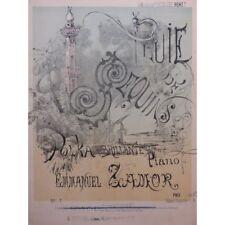 ZAMOR Emmanuel Mme Pluie de Sequins Piano ca1900 partition sheet music score