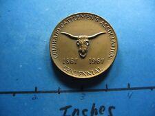 COLORADO CATTLEMEN'S ASSOCIATION LONGHORN 1867-1967 MEDALLIC ART BRONZE COIN