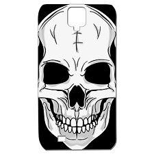 Coque 3 D Téléphone - SAMSUNG GALAXY S4 - TÊTE DE MORT CRANE ROCK METAL SKATE