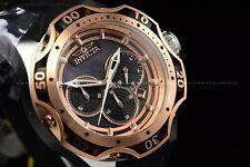 Invicta Men's 52mm Reserve VENOM Quartz Chrono Rose Gold Black Strap SS Watch