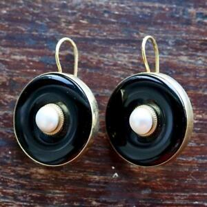 Black and Pearl Earrings: Museum of Jewelry