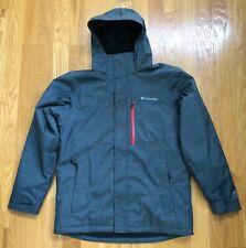 Men's Columbia Omni-Heat Waterproof Hooded Jacket Raincoat Gray Medium NWOT