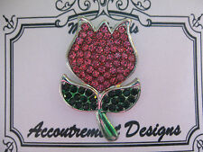 Pink Tulip Needle Minder Magnet Needlepoint Accoutrement Designs Mag Friends