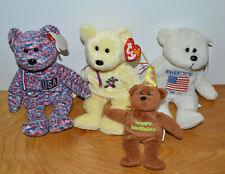 Ty Beanie Babies & Other Bear Lot Mother Usa March Of Dimes Plush Toys Teddy
