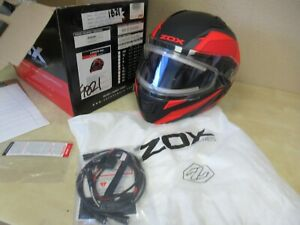 ZOX MOTORCYCLE ATV MOTOCROSS SLED HELMET - XL RED CONDOR ELECTRIC SHIELD