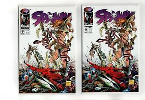 Spawn #9 (2X) 1st Angela and Grimm Fairy Tales Presents #1 (2X) cover A and B