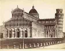 Van Lint, Italia, Pisa, Duomo  Vintage albumen print. Italy.  Tirage albuminé