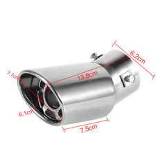 Universal Rear Round Stainless Steel Auto Exhaust Tailpipe Muffler End Trim 61mm