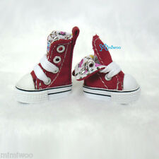 """Mimi Collection 12"""" Neo Blythe Pullip Doll Denim MICRO Shoes Folded Boots RED"""