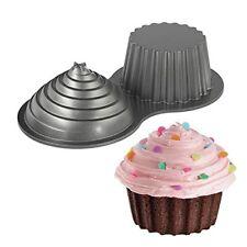 Wilton Giant Cupcakes Pan Two Sided Cup Cake Oversize Big Large Huge Baking Tin