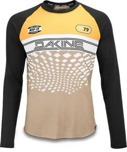 Dakine Men's Dropout L/S Cycling Bike Jersey Large Golden Glow Stingray New 2020