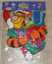 """Tigger's Presents Christmas 13"""" x 18"""" Applique Mini Garden Flag - New"""