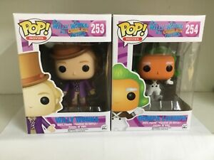FUNKO POP! WILLY WONKA & THE CHOCOLATE FACTORY SET 253 WONKA & 254 OOMPA LOOMPA