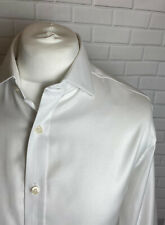"Mark Spencer Shirt White Twill 17"" - 43"" Slim Fit Double Cuff"