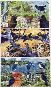 2004 Solomon Islands Birds Souvenir Sheets | Sc # 983-5 SG #MS1080a-c | MNH OG