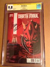 CGC 9.8 SS Star Wars Darth Maul #1 Rebels Variant Cover signed by Sam Witwer