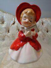 Vintage Lefton Valentine Girl w/heart figurine