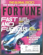 FORTUNE MAGAZINE August 1 2017 UBER & LYFT Global 500 FACEBOOK ALIBABA A-Rod NEW