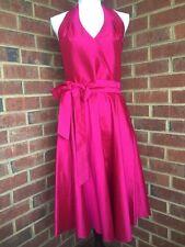 NWT LAUREN RALPH LAUREN Women's Pink Halter Neck Silk Formal Tea Dress - Size 10