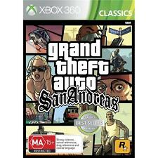Grand Theft Auto San Andreas XBOX360 Games Microsoft New
