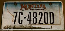Montana 7C 4820D Big Sky Country Pictorial Car License Plate Nice SEE!